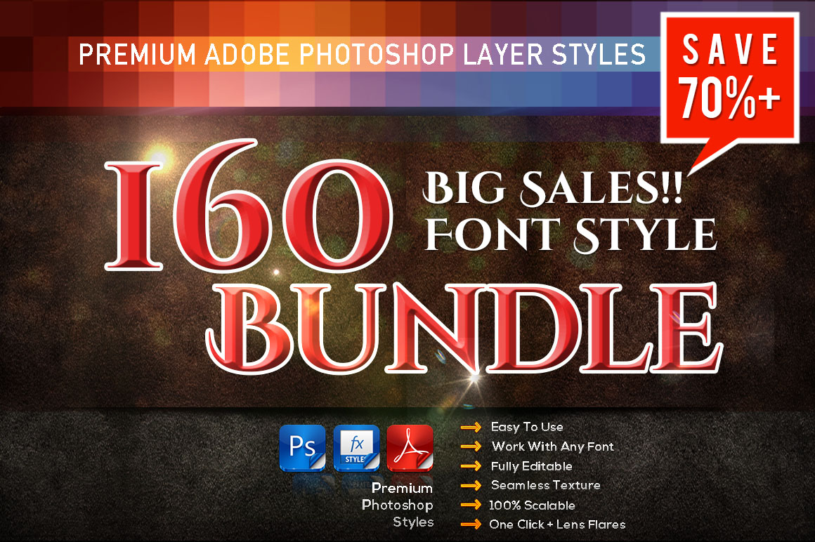 160 Font Styles Bundle - only $22