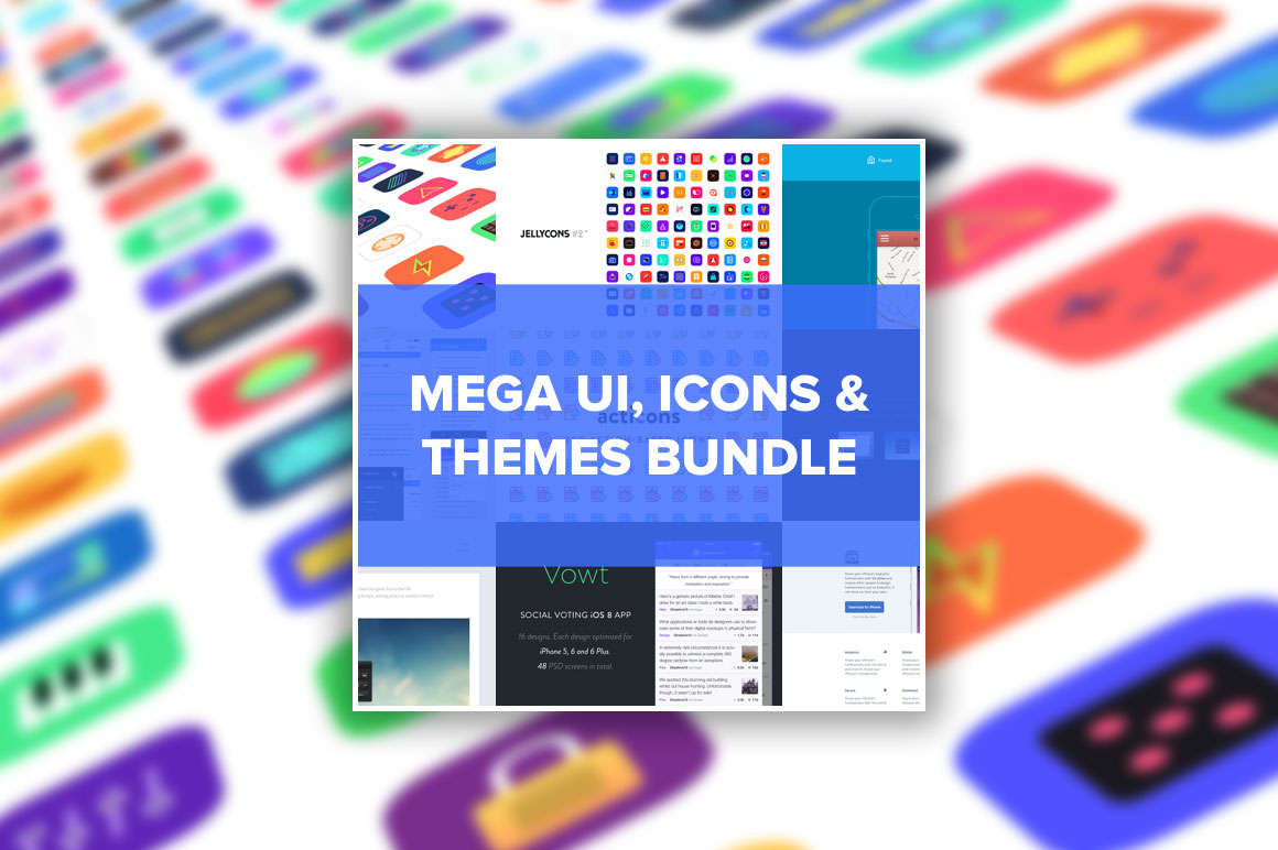 MEGA UI, ICONS & THEMES BUNDLE