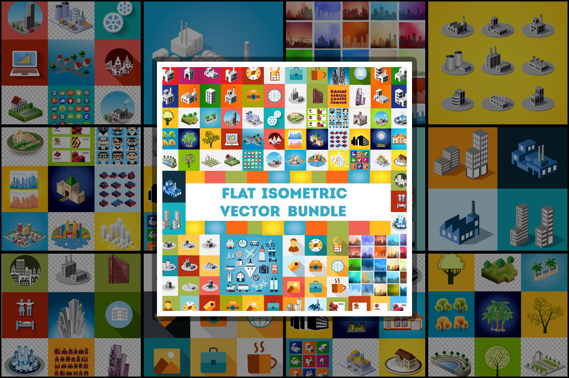 Flat isometric vector bundle
