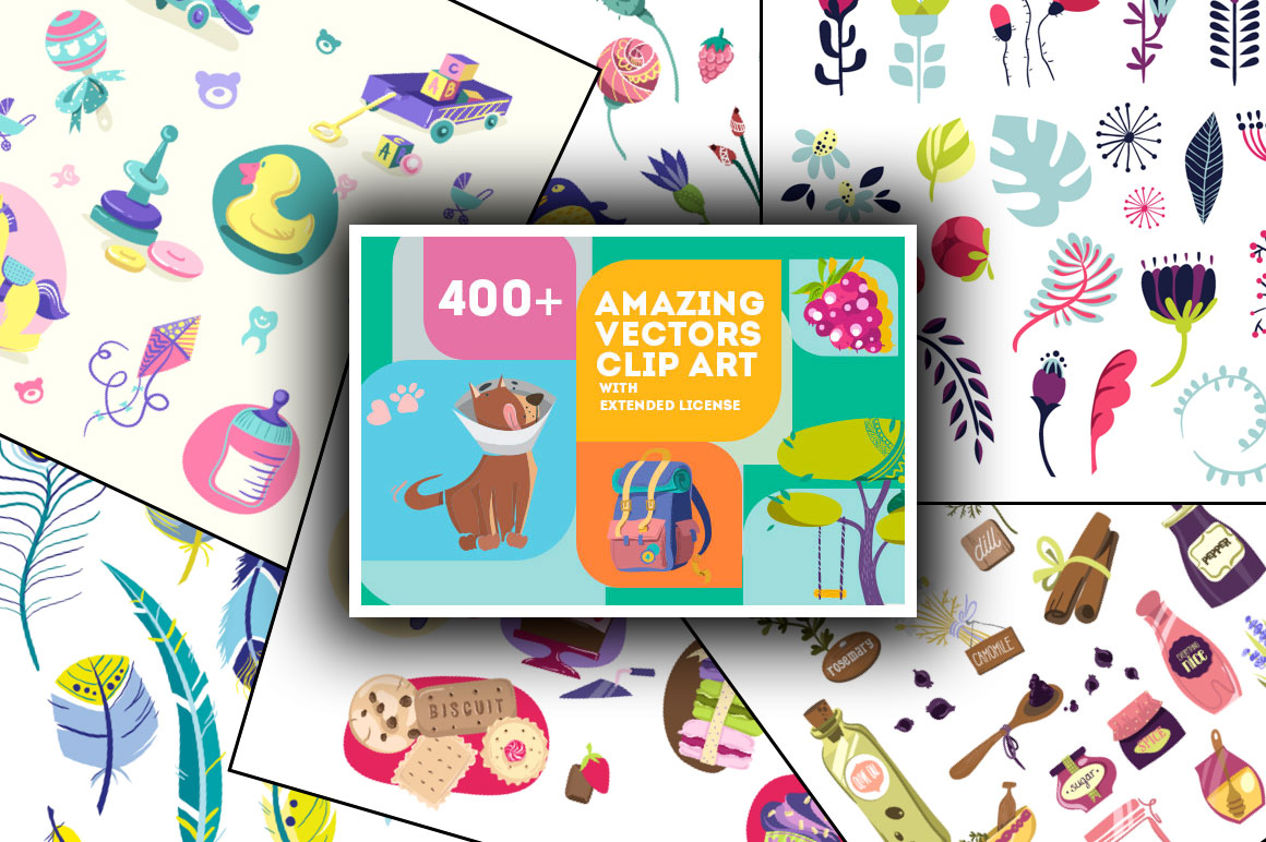 400+ Amazing Vector Clip Art with Extended License