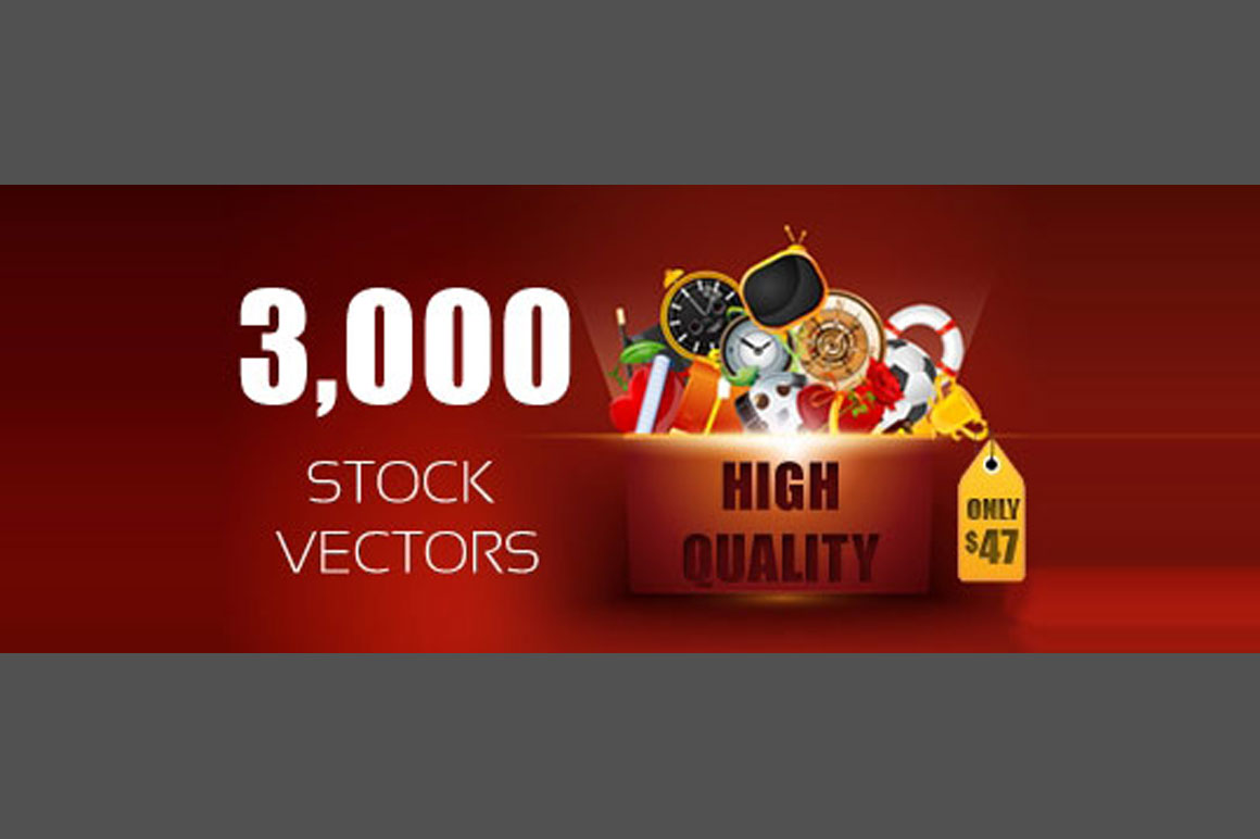 3,000 High Quality Stock Vectors - only $47