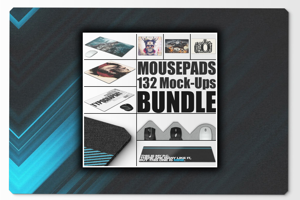 Mousepad Mockups Bundle 132 PSD Templates for only $19