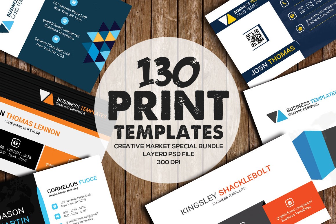 130 Print Templates Bundle - only $20