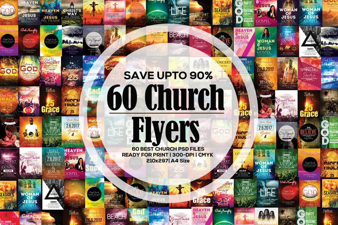 60 Church Flyer Templates - only $35