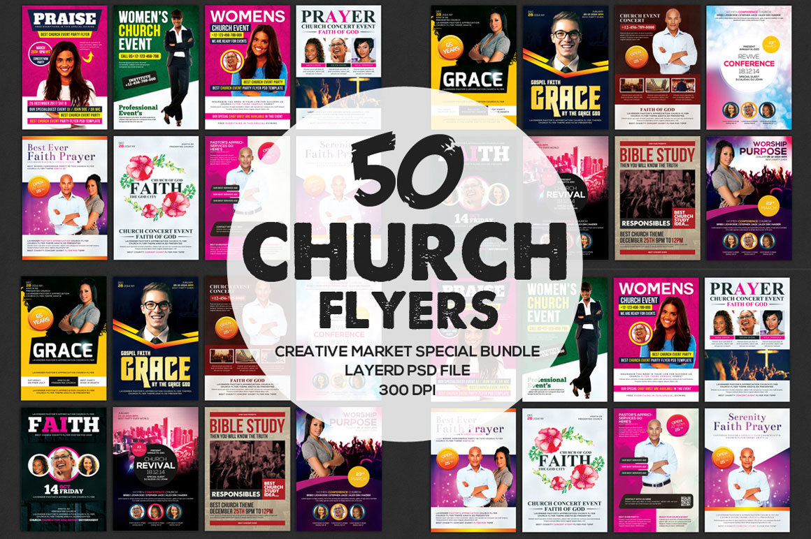 50 Multipurpose Flyers Bundle