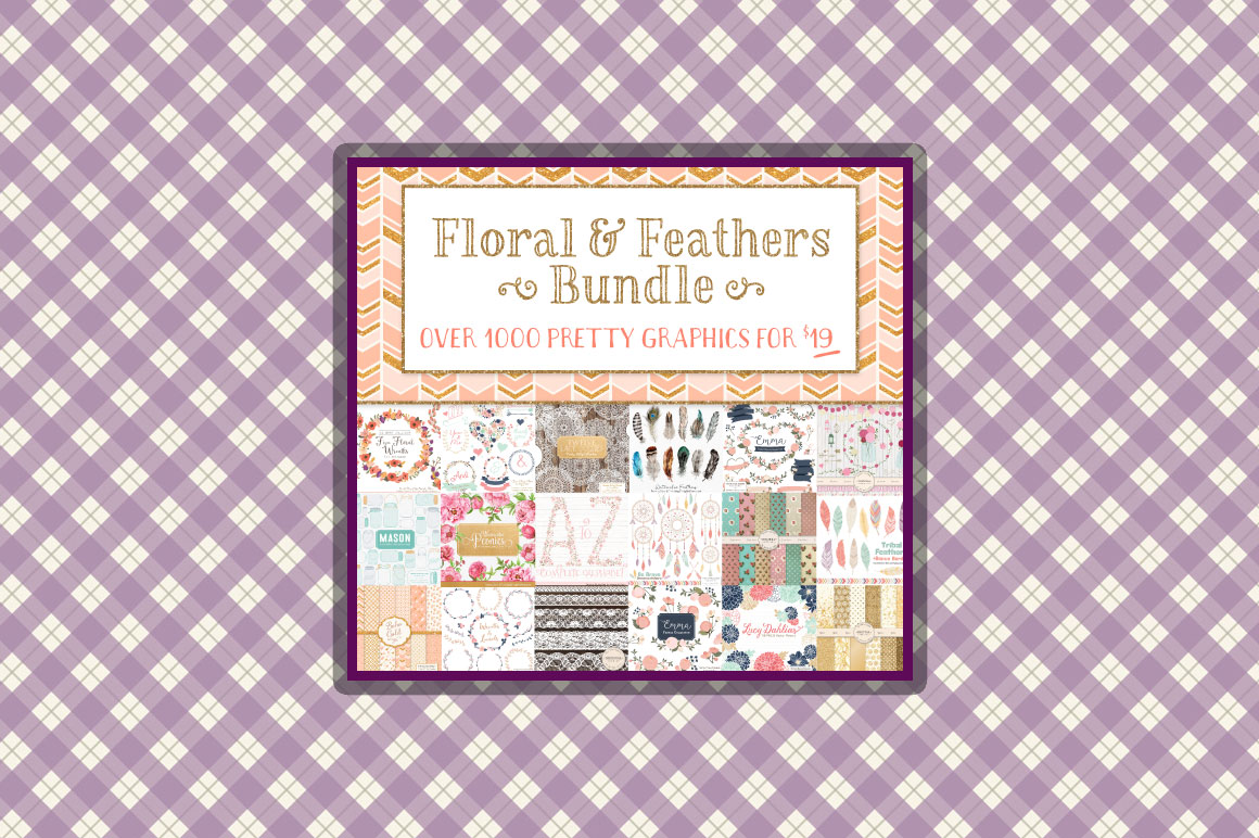 Fabulous Floral & Feathers Graphic Bundle