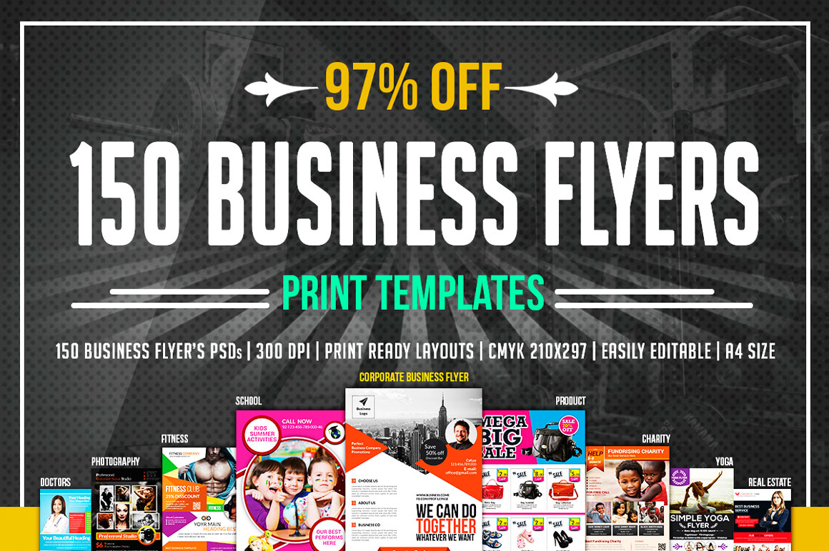 150 Multipurpose Flyers Bundle