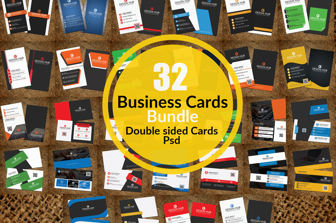32 Print Template Business Cards
