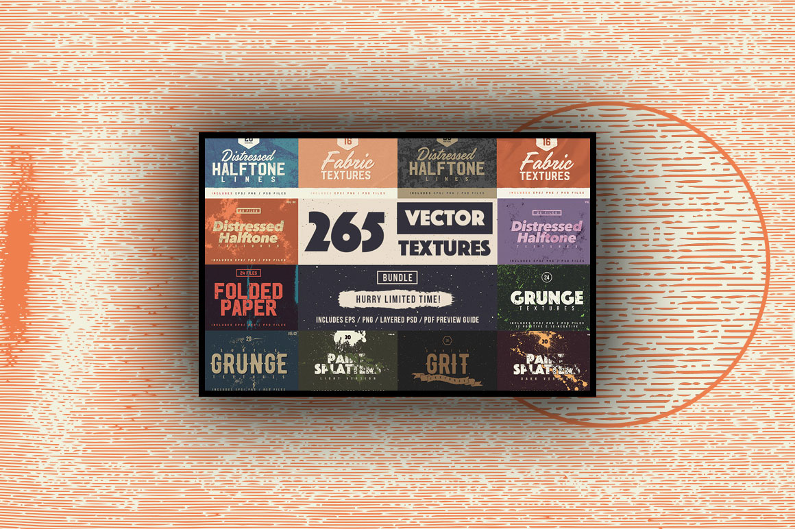 Bundle of 265 High Quality Vector Textures - only $24