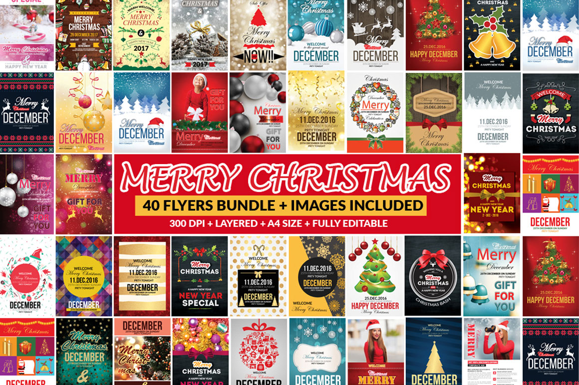 Bundle of 66 Christmas Templates - only $29