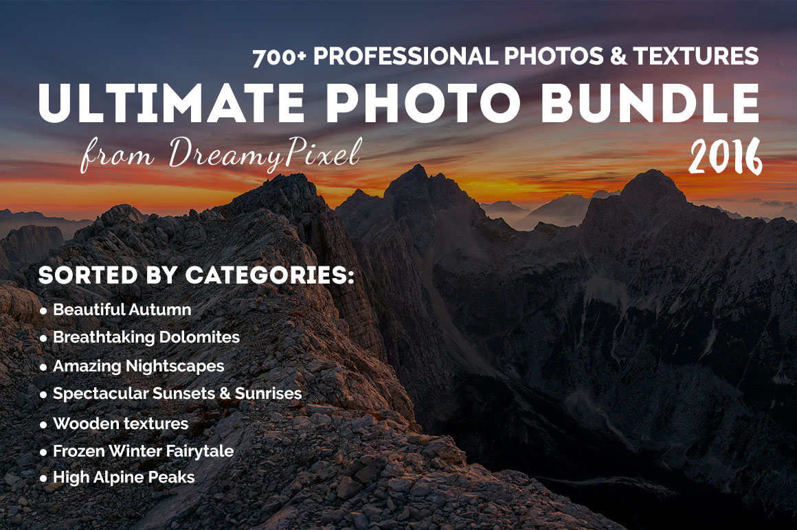 Ultimate Photo Bundle 2016 from DreamyPixel – 700+ Stock Photos with Extended License