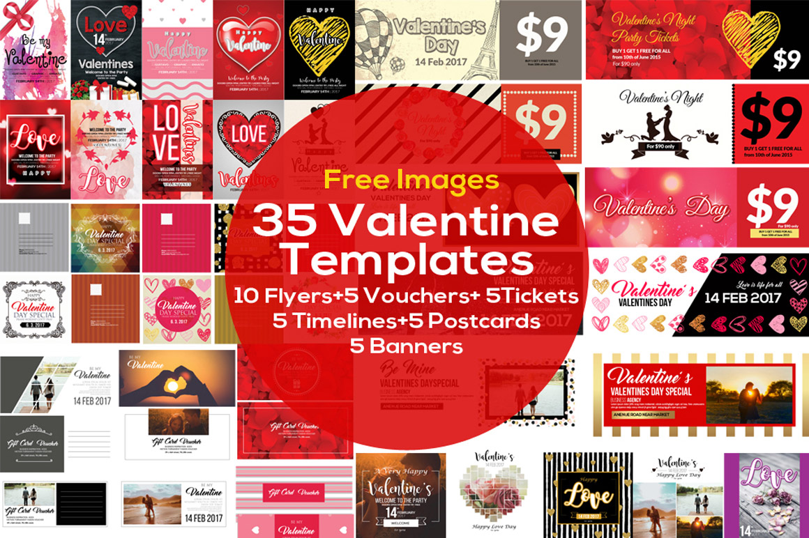 35 Valentine's day flyers and templates for only $25