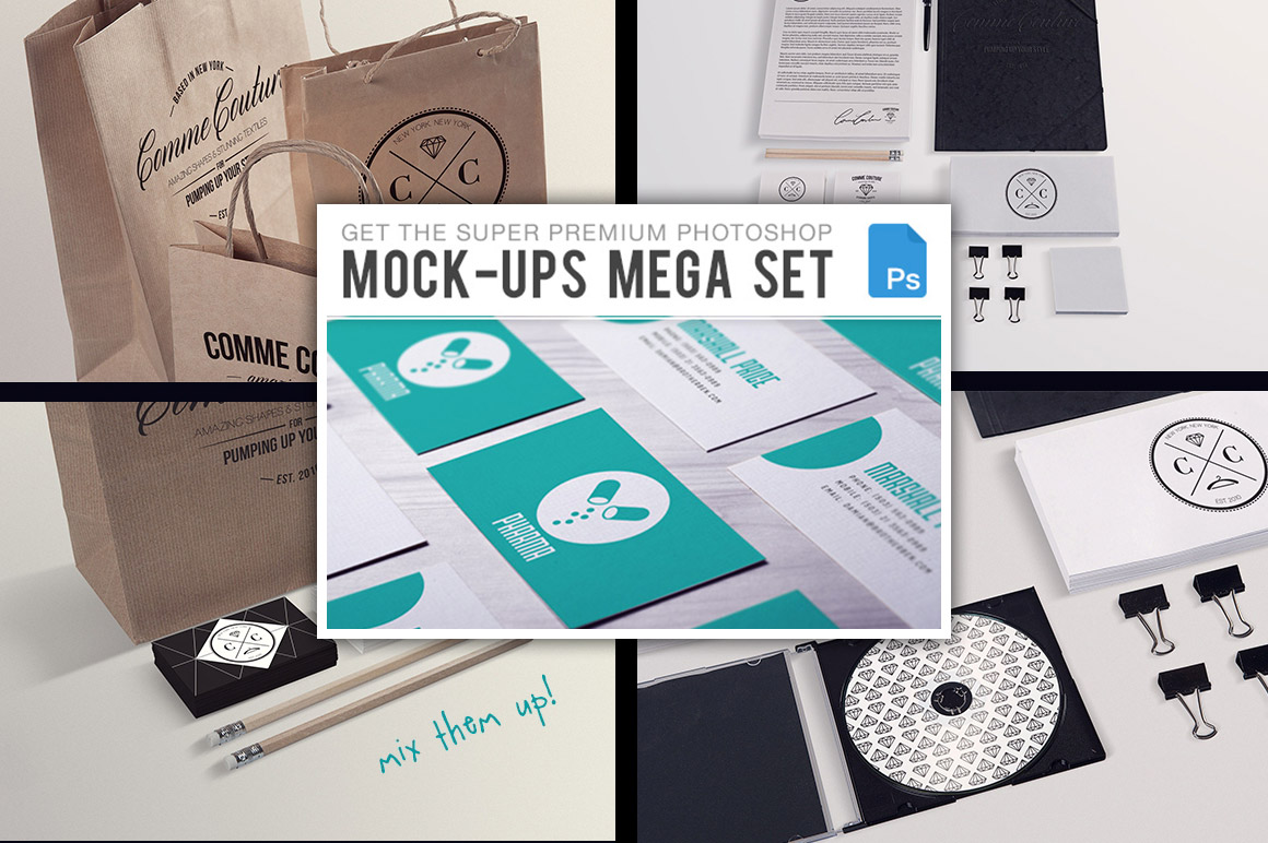 The PS Mock-Ups Super Bundle with 65 Top-Quality Mock-Ups – Only $39