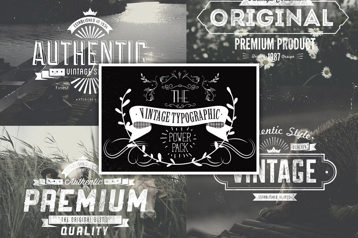 The Vintage Typographic Power Pack – Only $39