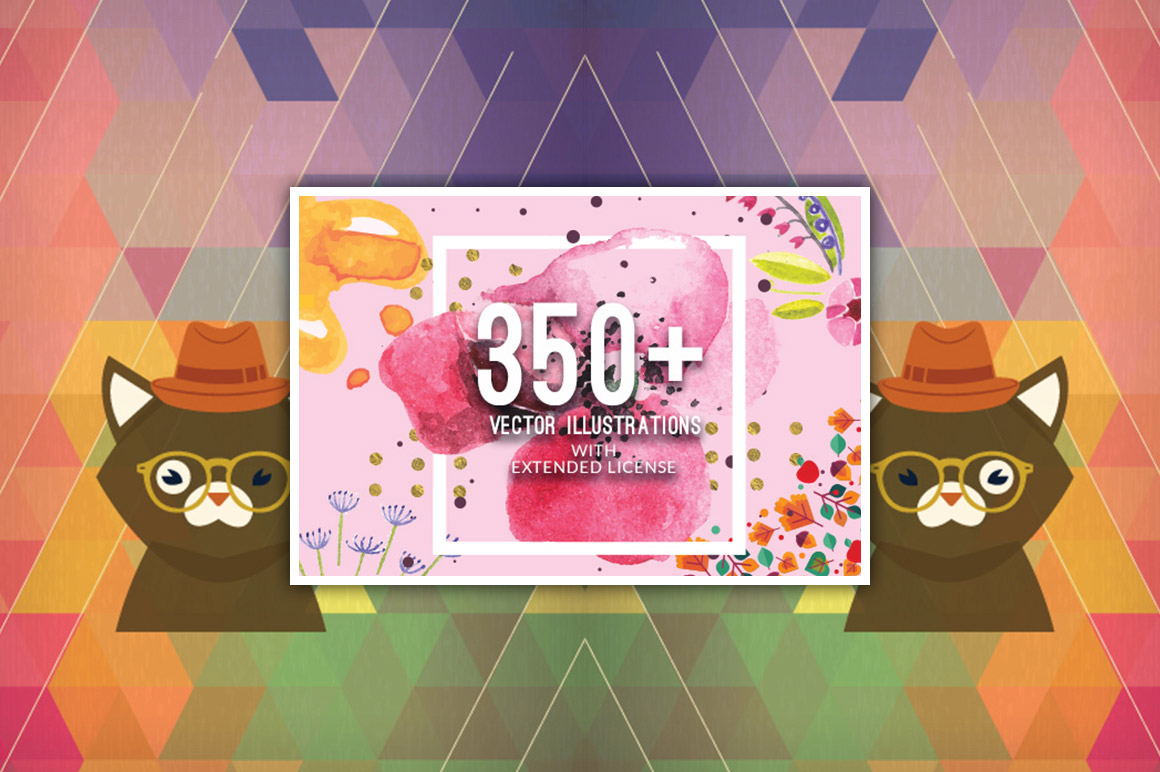 350+ Vector Illustrations with an Extended License – Only $35
