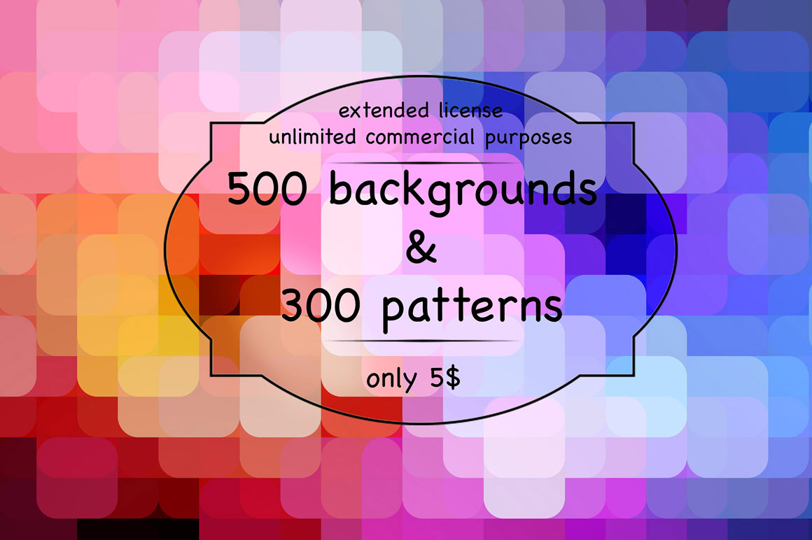 500 Backgrounds with Extended license for only $5