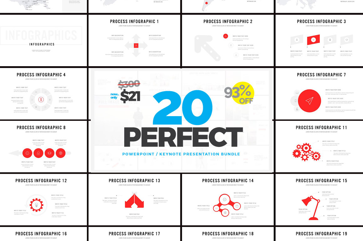 20 Professional Templates with 1400 slides in 1 Bundle - 93% OFF!