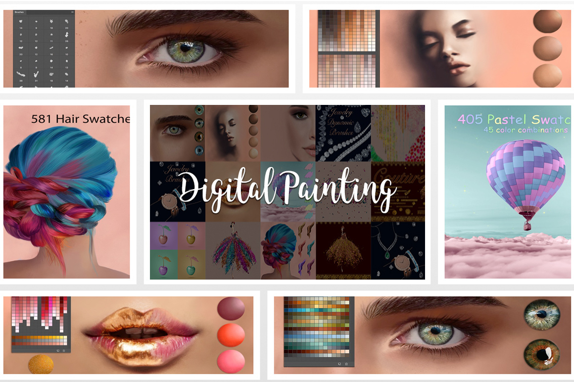 Digital Painting Assets for Creative Designers