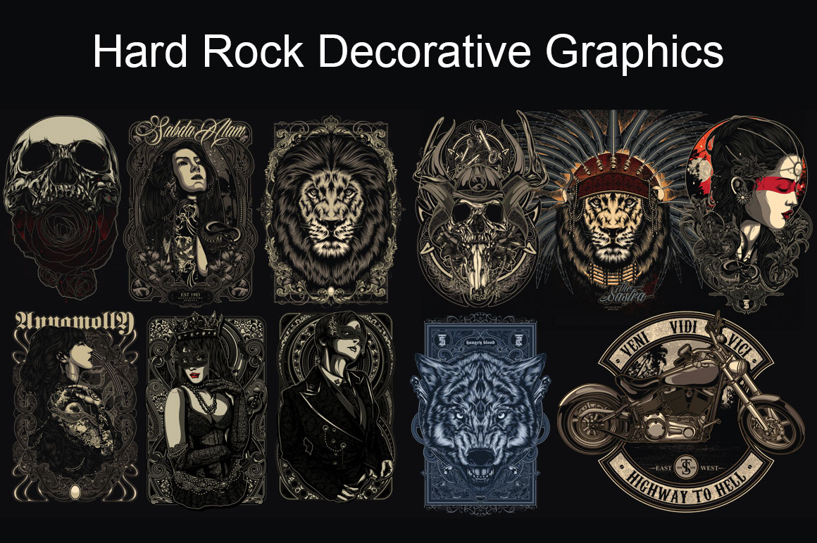 Hard Rock Decorative Graphics