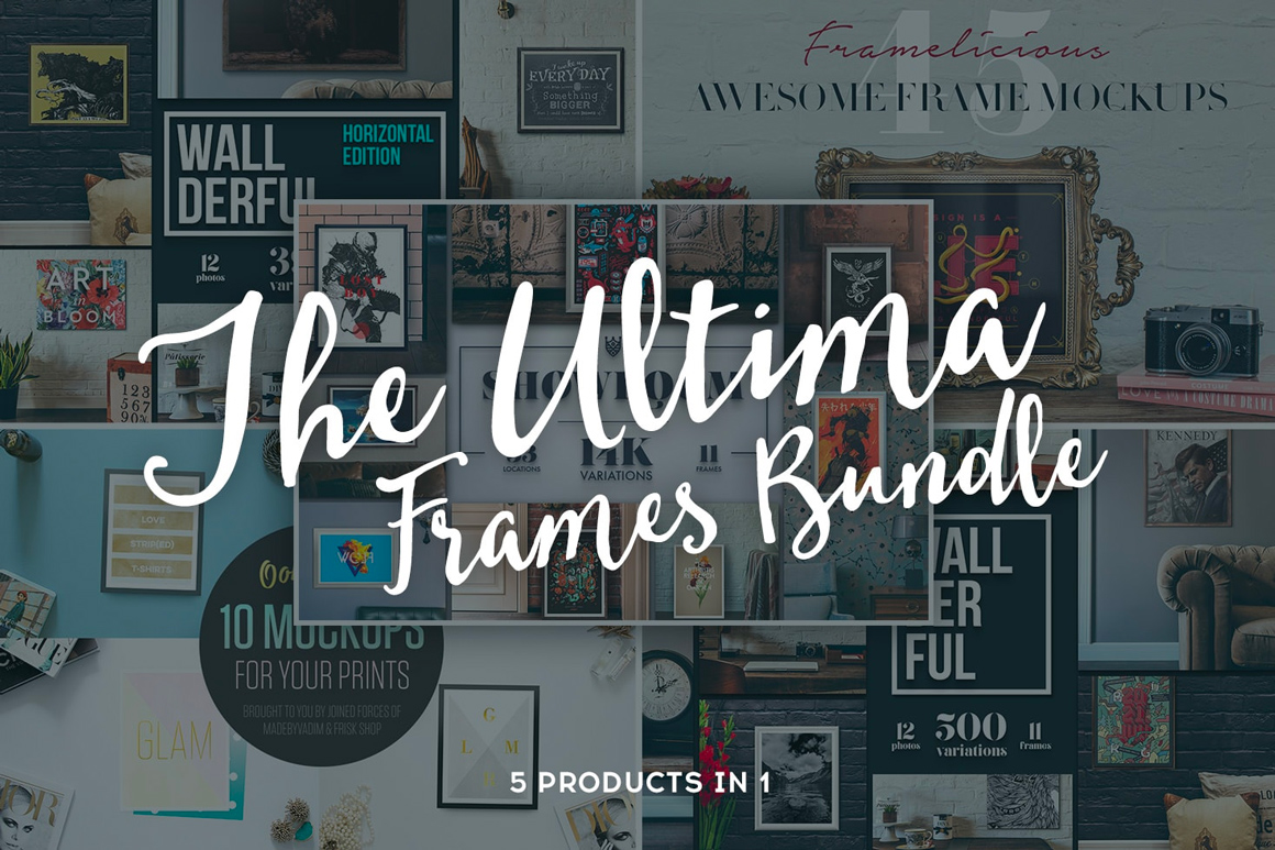The Huge Ultima Frames Bundle – 15K+ Mockups Variations