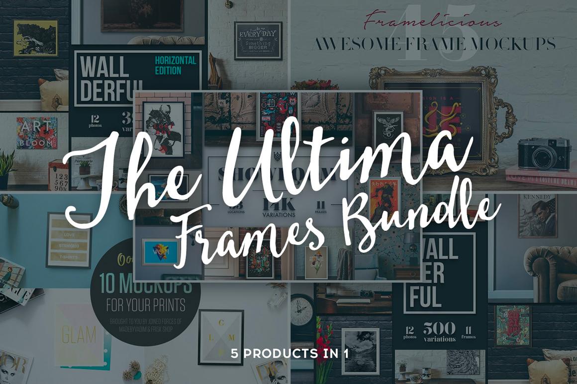 The Huge Ultima Frames Bundle – 15K+ Mockups Variations