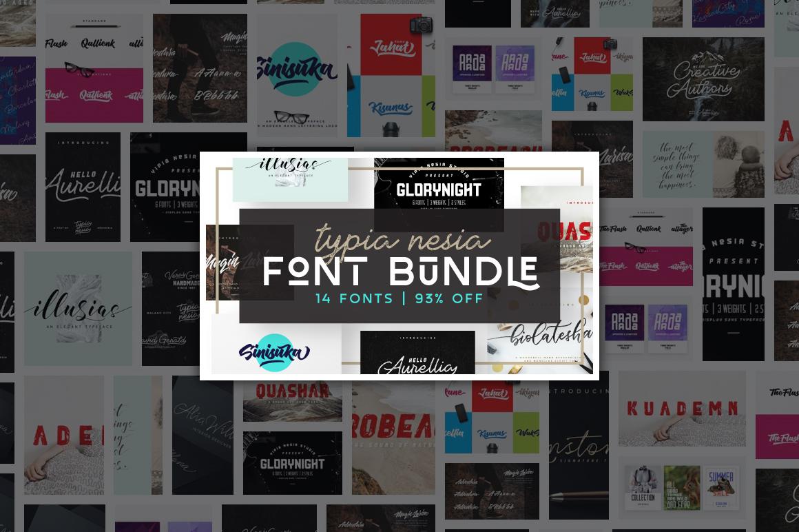 Typia Nesia Font Bundle