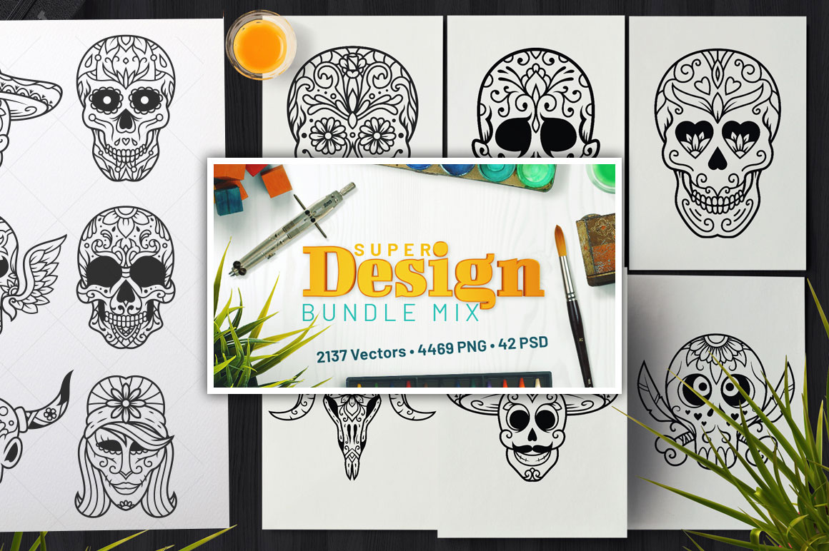 Super Design Bundle Mix - Over 2000 vector files for only $14