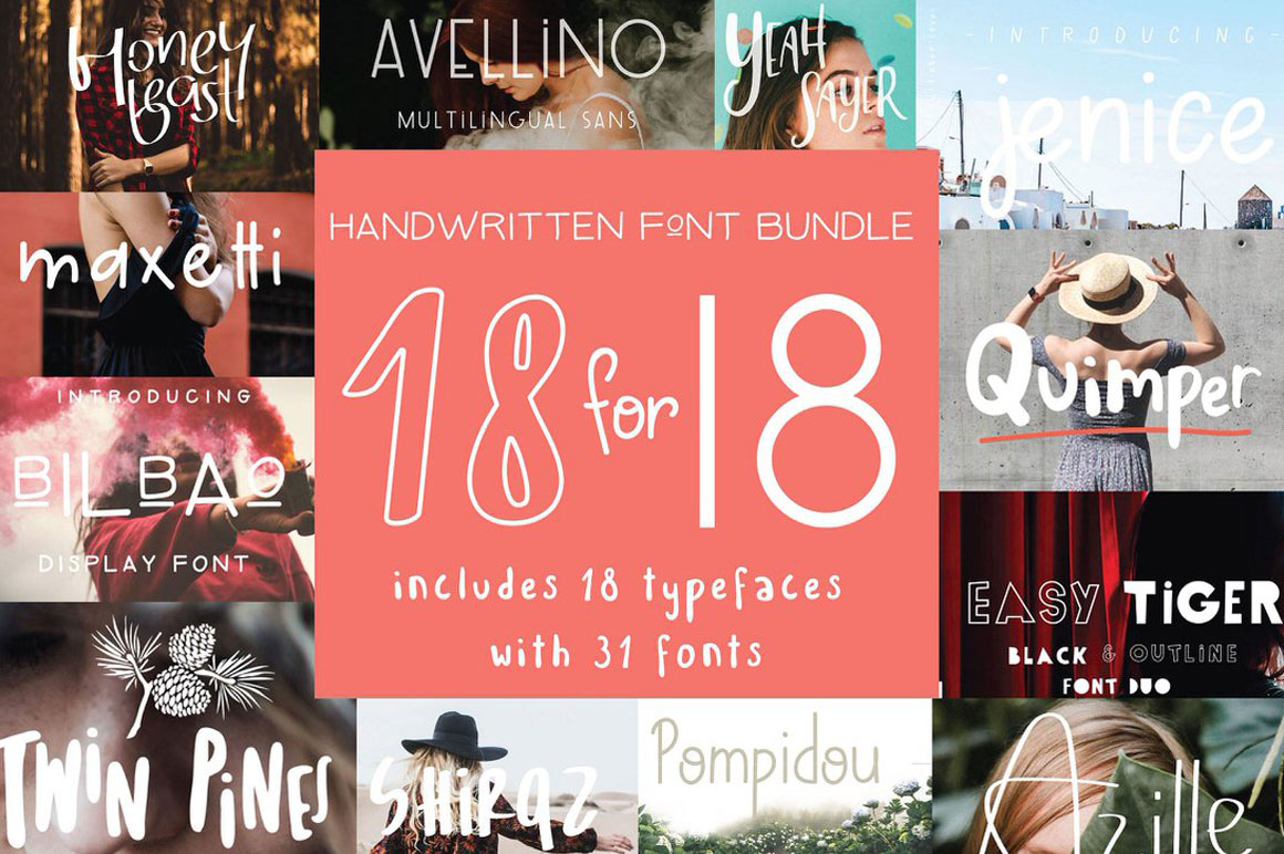 Get 18 handcrafted fonts for only $18