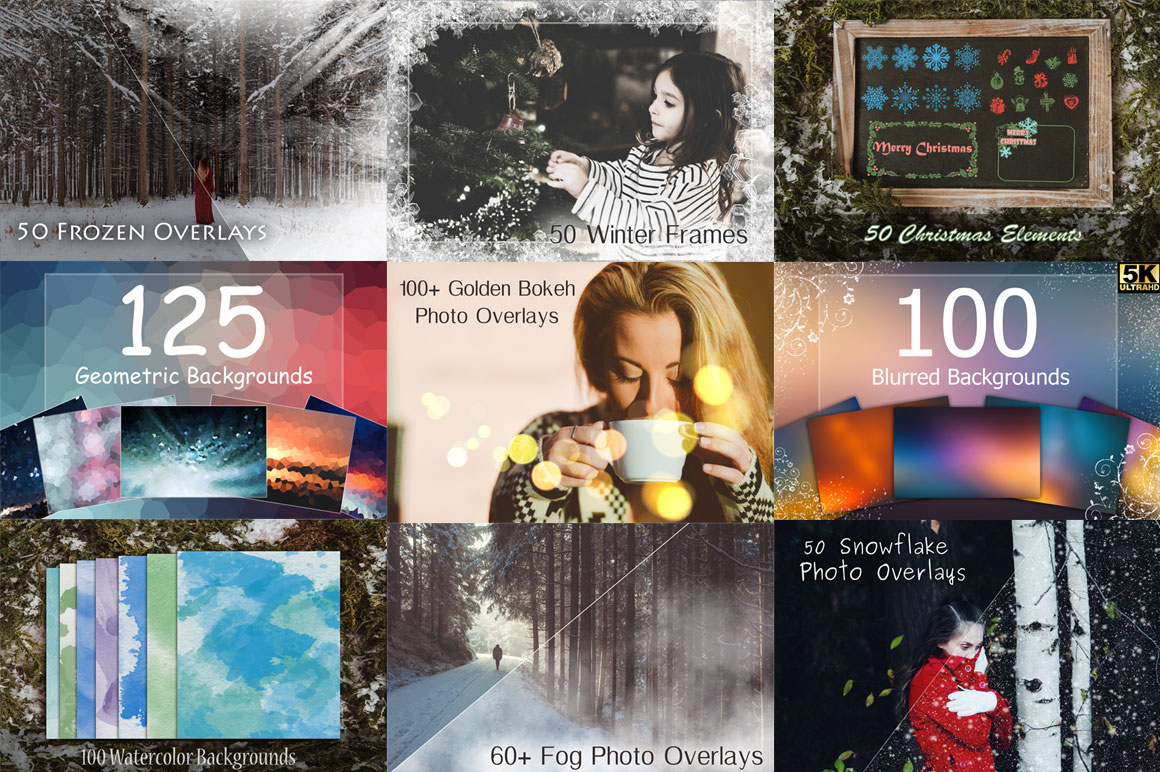 1000+ Winter overlays to turn your designs into outstanding works of art