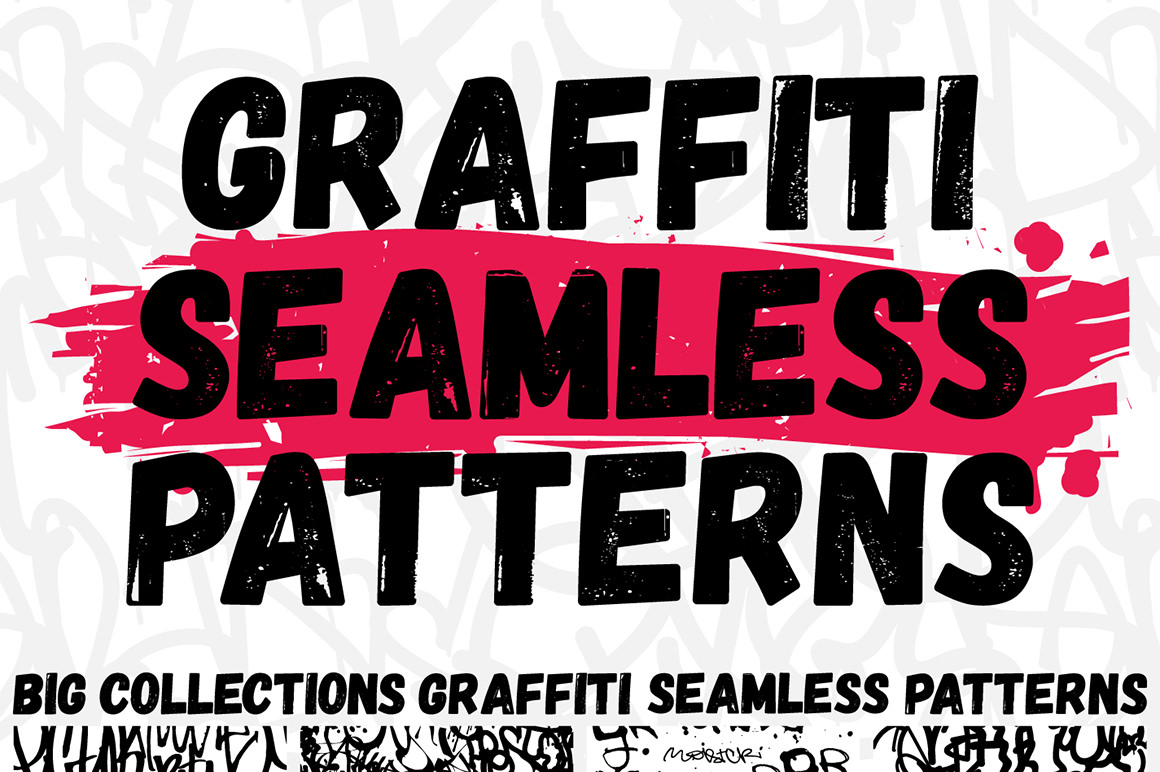3 in 1 Graffiti Seamless Patterns Set with Extended License