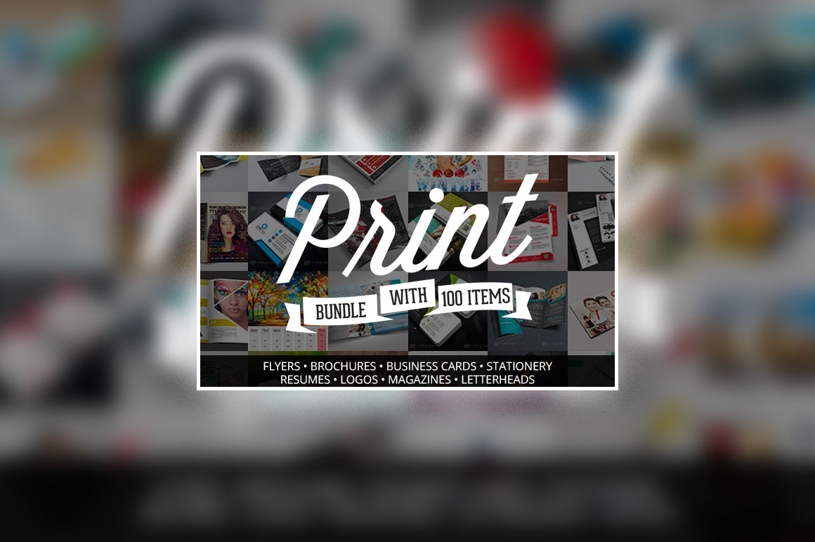 100 Print Templates Bundle with an Extended License - Only $19