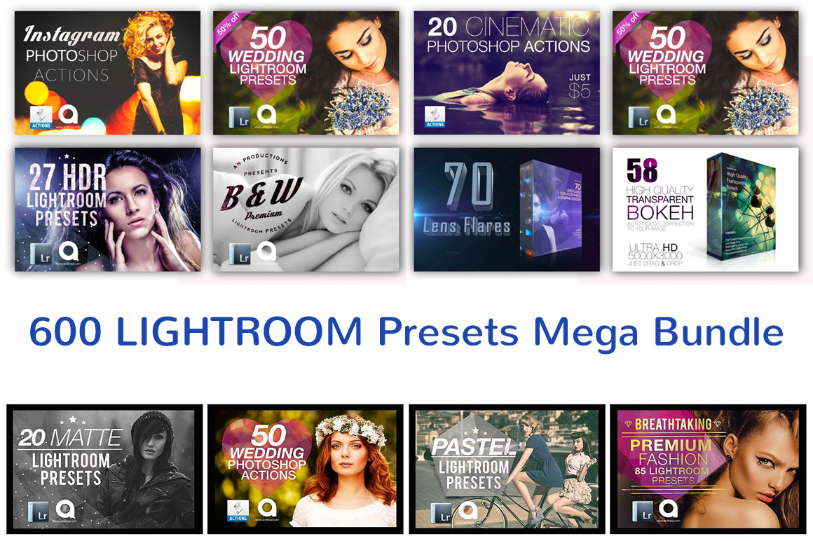 600 Photography Presets Mega Bundle