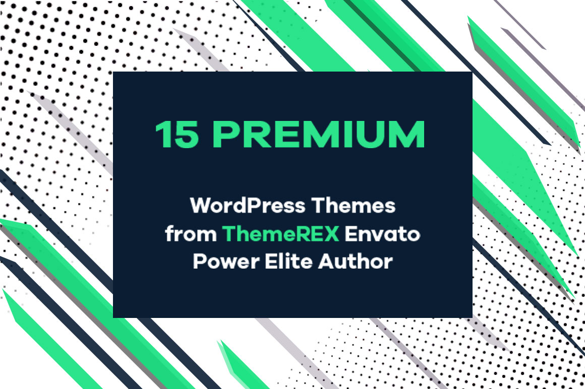 15 Premium WP Themes from ThemeRex, Envato Power Elite Author