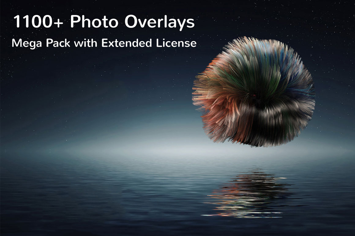 1100+ Photo Overlays Mega Pack with Extended License