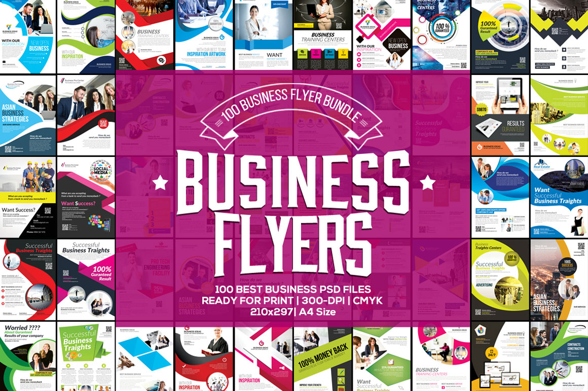100 Professional Business Flyer Bundle
