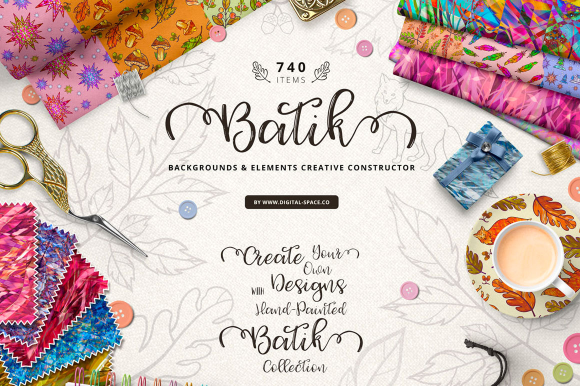 740 Items - Batik Collection and Art Constructor