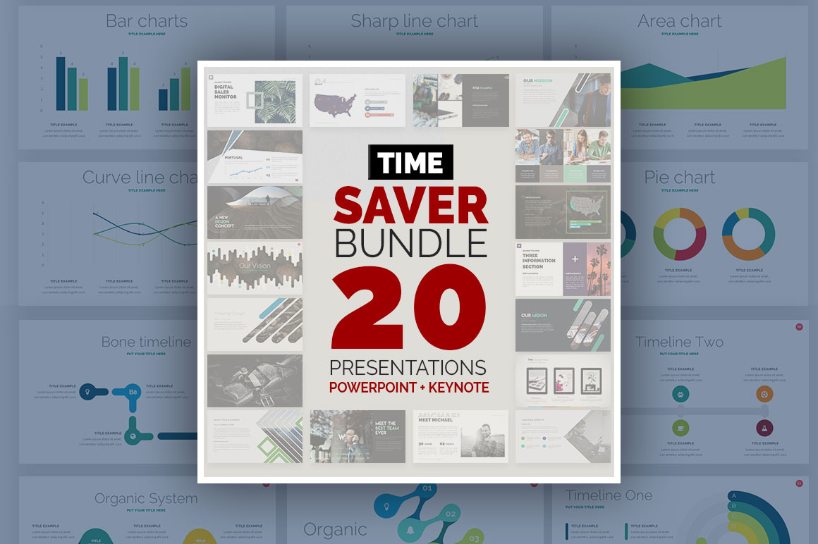 Time Saver Bundle – 20 Powerpoint & Keynote Templates