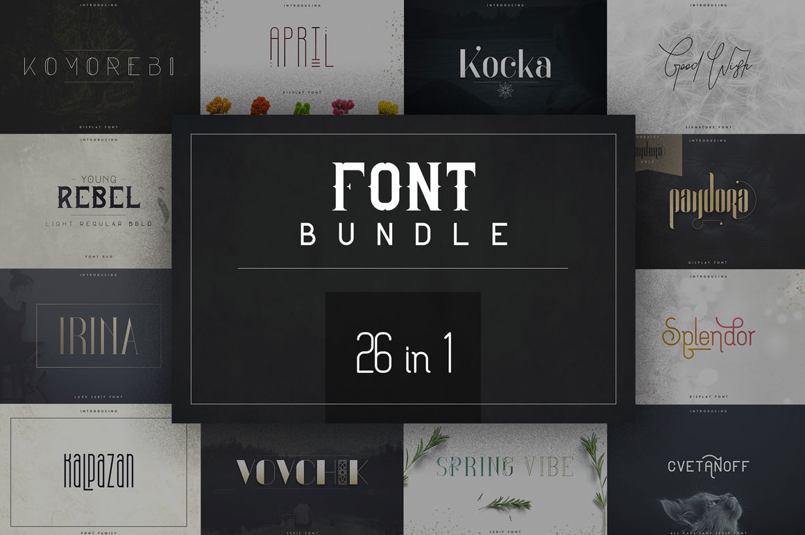 26 in 1 Legendary Font Bundle