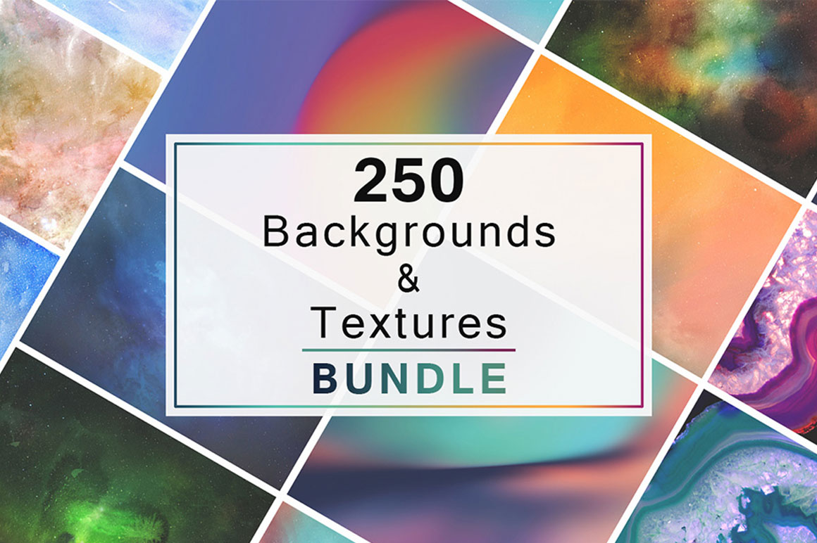 250 Backgrounds and Textures Bundle