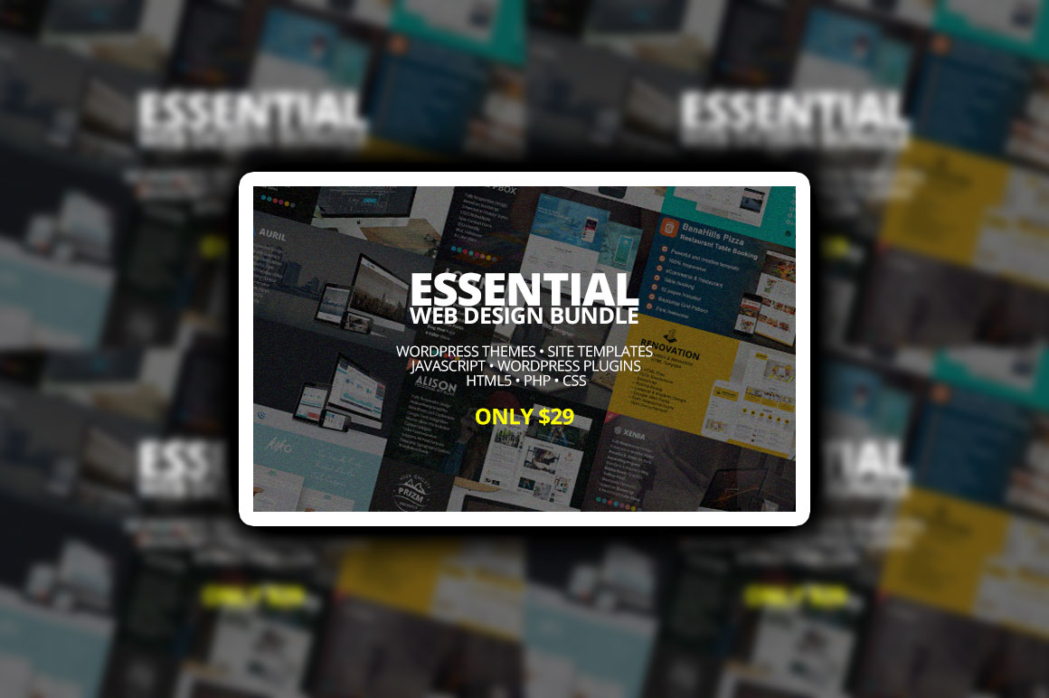 Essential Web Design Bundle – Only $29