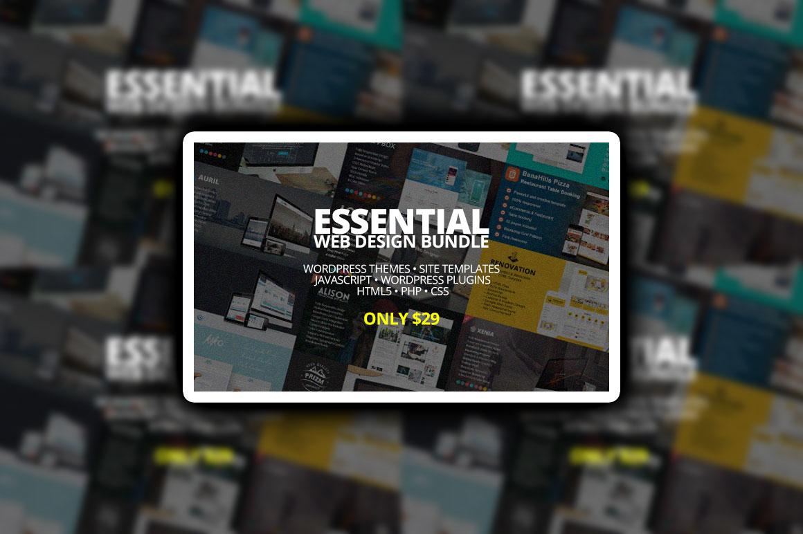 Essential Web Design Bundle – Only $29